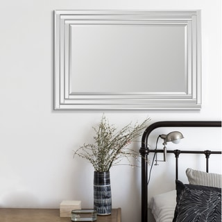 Beveled Step Frame Rectangular Mirror