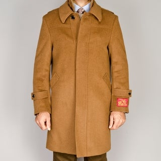 Men's Wool/Cashmere Blend Modern Coat