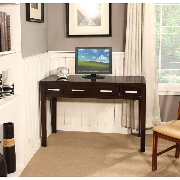 WYNDENHALL Soho Dark Exeter Brown 2-drawer Desk