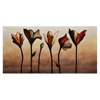 Stephanie Fontaine 'Elegance' Hand-painted Canvas Art
