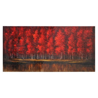 Lecavalier 'The Ruby Forest' Hand-painted Canvas Art