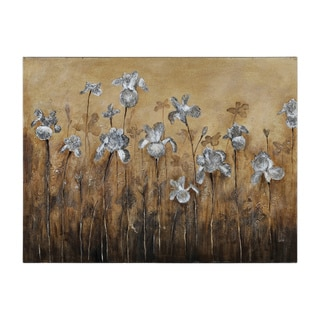Catherine Brink 'Fiore Bianco' Hand-painted Canvas Art