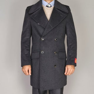 Men's Wool/Cashmere Blend Double-breasted Coat