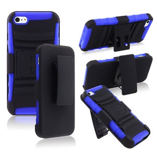 BasAcc Blue/ Black Hybrid Case with Stand for Apple� iPhone 5