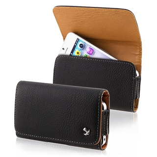 BasAcc Black Leather Pouch for Apple� iPhone 5