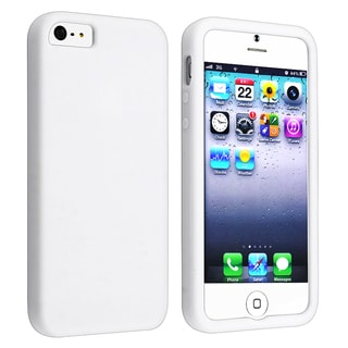 BasAcc White Silicone Skin Case for Apple� iPhone 5