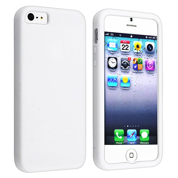 BasAcc White Silicone Skin Case for Apple® iPhone 5