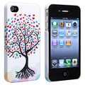 BasAcc White Snap-on Rubber Coated Case for Apple� iPhone 4/ 4S