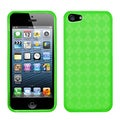 BasAcc Green Checker TPU Rubber Skin Case for Apple iPhone 5