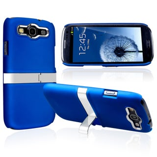 BasAcc Blue Snap-on Rubber Coated Case for Samsung� Galaxy SIII / S3