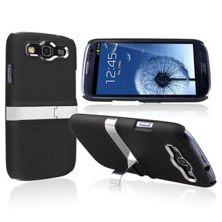 BasAcc Black Snap-on Rubber Coated Case for Samsung� Galaxy SIII / S3