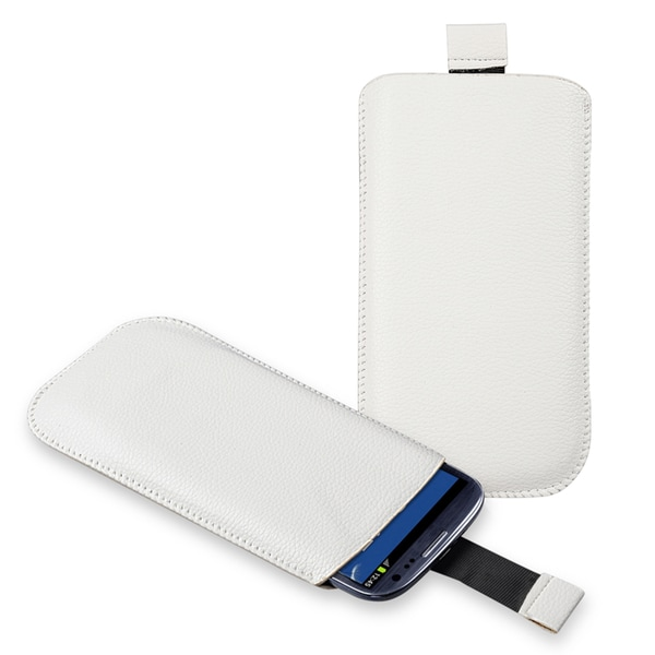 INSTEN White Leather Pouch for Samsung Galaxy S III / S3