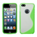 BasAcc Clear/ Green Gummy S Shape Skin Case for Apple� iPhone 5/ 5S