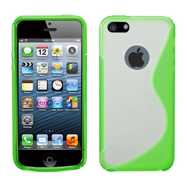 INSTEN Clear/ Green Gummy S Shape Skin Phone Case Cover for Apple iPhone 5/ 5S
