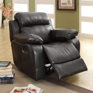 TRIBECCA HOME Eland Black Rocker Recliner Chair