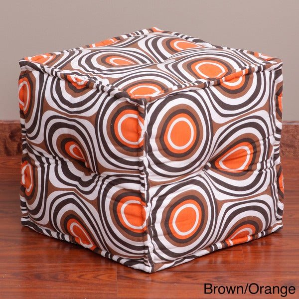 Retro Circle Pouf Ottoman (India)