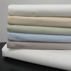 Egyptian Cotton 200 TC Solid Percale Pillowcases (Set of 2)
