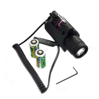 Tactical Red Laser Sight and LED Flashlight for Picatinny Rail 1MW 650NM