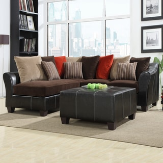 Morena Corduroy/ Vinyl Sectional Set