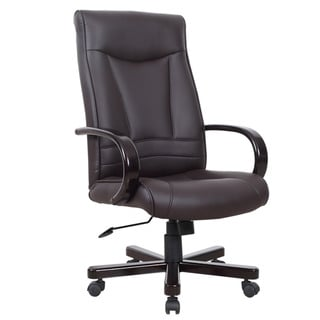 Favorite Finds Wood Armed Executive Office Chair