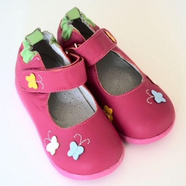 Papush Girl's Butterflies Walking Shoes