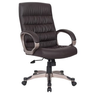 Favorite Finds Deep Brown Faux Leather Executive Office Chair