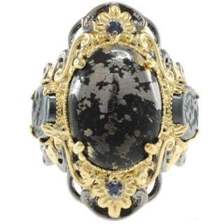 Michael Valitutti Two-tone Pyrite and Hematite Ring