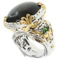 Michael Valitutti Two-tone Black Opal Ring