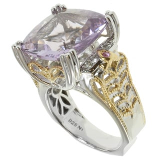 Michael Valitutti Two-tone Rose de France Ring