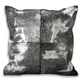 Marlo Lorenz Black/ Silver Metallic 16-inch Pillow