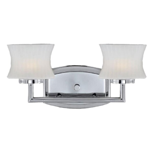 Triarch International Chrome 2-light Vanity Light