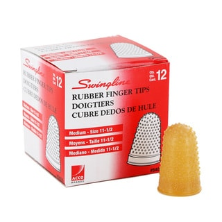 Swingline Medium Rubber Finger Tips (Pack of 24)