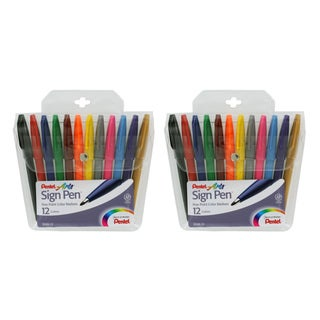Pentel Felt Tip Sign Pen Set (Pack of 2 Sets)