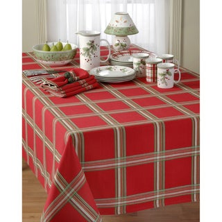 Lenox Holiday Gathering Plaid Tablecloth