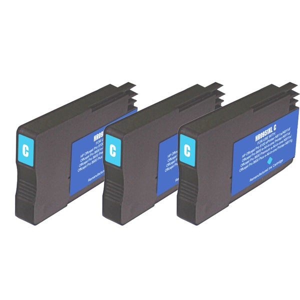 HP 951XL Cyan Ink Cartridge (Pack of 3) (Remanufactured)
