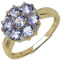 Malaika Gold over Silver Tanzanite and 1/10ct TDW Diamond Ring (I-J, I2-I3)
