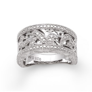 Sterling Silver 1/10ct TDW Diamond Ring (H-I, I2-I3)