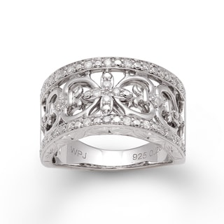 Sterling Silver 1/3ct TDW Diamond Vintage-inspired Ring