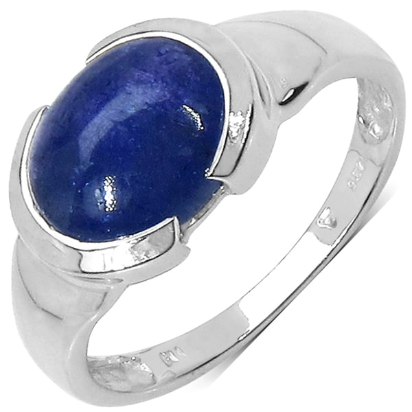 Malaika .925 Sterling Silver 3.55ctw Tanzanite Ring