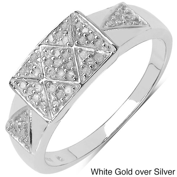 Malaika 14k Gold over Sterling Silver 1/4ct TDW Diamond Ring