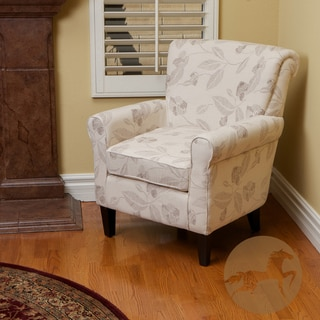 Christopher Knight Home Fontaine Embroidered Beige Club Chair