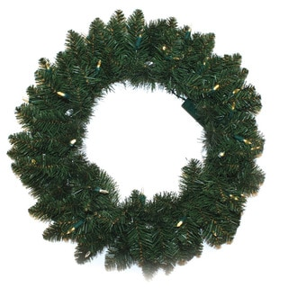 Battery Operated LED 24-inch Wreath