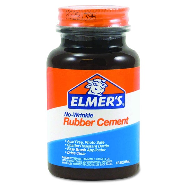 Elmer's No-Wrinkle 4-ounce Rubber Cement