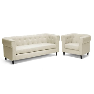 Baxton Studio Beige 2-piece Sofa Set