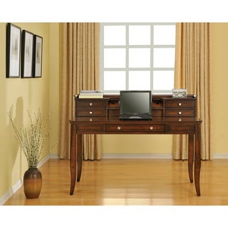 Altra Dark Walnut Writing Desk with Hutch