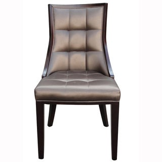 Barrel Leather Dining Chair (Set of 2)