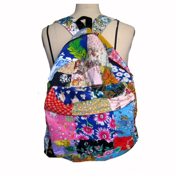 Handcrafted Recycled Floral Backpack (Nepal)