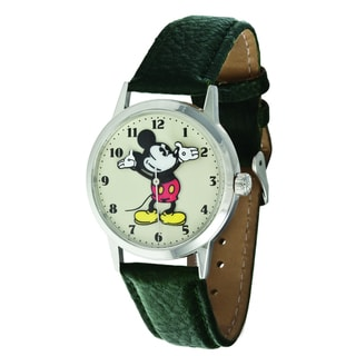 Ingersoll Disney All Day Mickey Green Leather Watch