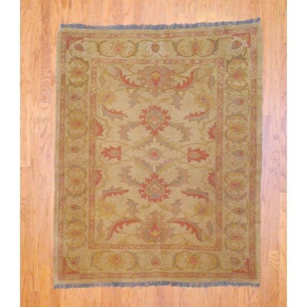 Afghan Hand-knotted Tribal Soumak Beige/ Rust Kilim Wool Rug (5' x 6')