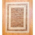 Afghan Hand-knotted Vegetable Dye Beige/ Red Wool Rug (5' x 6'6)